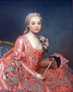 Portrait of the Baroness de Neubourg-Cromière, 1756, by Alexander Roslin (Swedish, 1718-1793)
