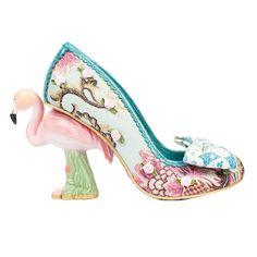 54370fe2598 Irregular Choice Blushing Bird Blue Pink Flamingo Novelty Designer Wedding  Shoes