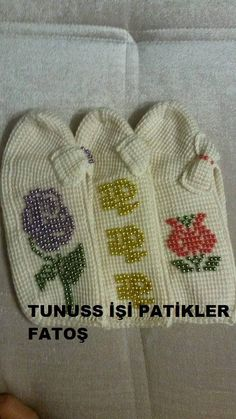 Free Knitting, Baby Knitting, Knitting Patterns, Knitted Slippers, Knitted Hats, Tunisian Crochet, Knit Crochet, Knitted Baby Clothes, Crochet Cross