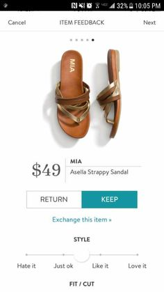 Love this style of sandal for summer time.