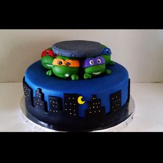 Teenage Mutant Ninja Turtles Cake on Cake Central Ninja Turtle Birthday Cake, Ninja Cake, Tmnt Cake, Turtle Birthday Parties, Lego Cake, Turtle Party, Minecraft Cake, 5th Birthday, Birthday Cakes