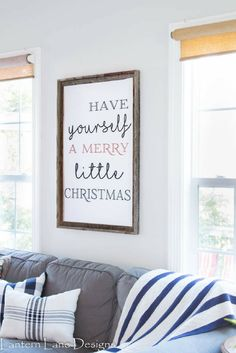 Free Christmas printable and an easy way to frame it