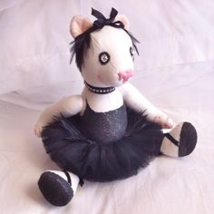 Teddy bear mini (27 cm) BLACK SWAN......