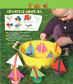 Kidissimo: Fabriquer un bateau avec des bouchons en plastique.