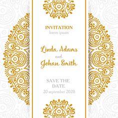 Retro Style, Mandala Decorative Pattern, Wedding Invitation Card Eps Files Free Download | Heypik