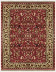 Othello's Palace red area rug