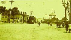 Largo de Pinheiros, anos 1900  - Raul Goldschmidt