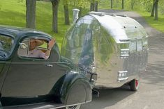 1936 Packard Coupe and 1935 Bowlus (Airstream) Travel Trailer