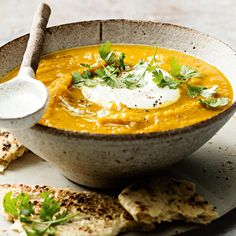 Indian Spiced Carrot & Chickpea Soup