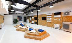 Showroom Samsung, Bratislava | RULES Architekti Ski Rental, Bratislava, Showroom, Conference Room, Divider, Samsung, Windows, Table, Shop
