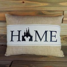 Add a Touch of Coziness with a Burlap Disney HOME Pillow