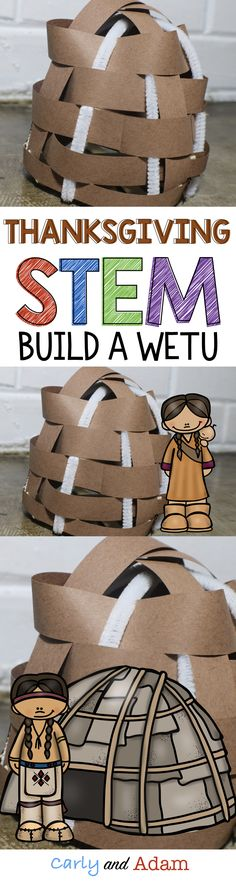 Make learning fun with this Thanksgiving themed STEM activity in which students learn about the Wetu (Wampanoag houses). Students learn about how a Wetu is made as well as some similarities and differences between the Wetu and Pilgrim houses. Links to YouTube videos are included to help build student background knowledge.