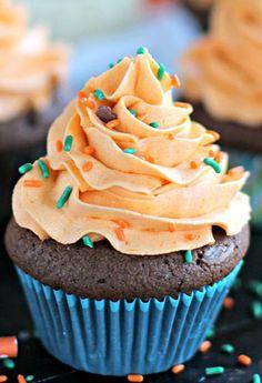 Pumpkin- Brownie Cupcakes