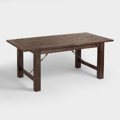 """Garner Extension Dining Table; metal crossbar and turnbuckles add a unique twist to a classic style.Crafted of solid rubberwood     Extends to seat 8 people    Made in Malaysia. Overall: 36""""W x 72""""L x 30""""H     Fully extended: 36""""W x 96""""L x 30""""H     Top of table to floor: 30"""" H"""