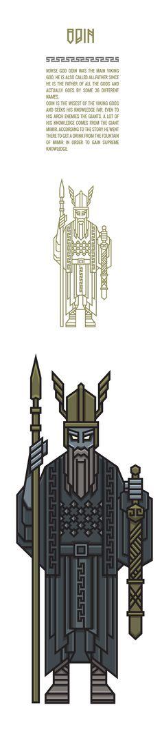 Odin // NORSE GODS on Behance