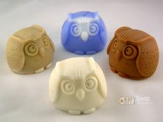 Owl Silicone Soap Mold Soap Republic by soaprepublic on Etsy, $17.00