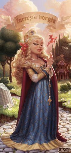 Lucrezia Borgia by JessiBeans.deviantart.com on @deviantART