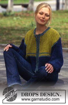 DROPS Vest van Cotton Chenille. Maat S-L. ~ DROPS Design