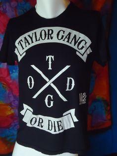 f4eb6898233c8 Wiz Khalifa - Taylor Gang Or Die - TGOD - Vintage - T-shirt - Black - M