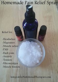 Whether youre experiencing migraines PMS cramps stress headaches joint pain car or sports injury or fibromyalgia these pains can interfere with our life and make us lose our sense of self. When youre in pain you want relief you want it now and yo Pain Relief Spray, Natural Pain Relief, Arthritis Remedies, Headache Remedies, Homeopathic Remedies, Pms, Essential Oils For Pain, Fibromyalgia Essential Oils, Essential Oils
