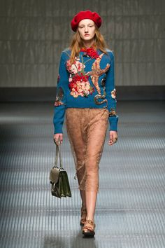 It's a wild-luxe mix straight out of Grey Gardens—primed for the fashion eccentric in all of us. This is for the girl who wants to wear it all, and all at the same time.  Pictured: Gucci   - HarpersBAZAAR.com