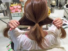 使うものはゴム2本!ポニテ×くるりんぱのアレンジ手順2 Hair Up Styles, Medium Hair Styles, Hair Arrange, Face Hair, Up Hairstyles, Hair Care, Hair Makeup, Hair Color, Hair Beauty