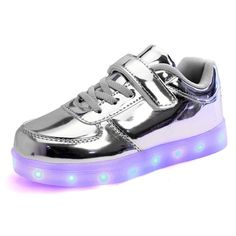 439c55ea02bb DoGeek Kids LED Shoes Girl Silver Gold Light Up Boys Unisex Zapatos Lus  Children Luminous Casual Shoes Chaussure Lumineuse Shoes