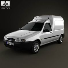 Ford Courier Van UK 1999 3d model from humster3d.com. Price: $75