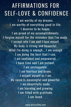 Daily Affirmations for Self-Love & Confidence - New Ideas Daily Positive Affirmations, Positive Affirmations Quotes, Morning Affirmations, Affirmation Quotes, Positive Quotes, Affirmations Confidence, Gratitude Quotes Thankful, Attitude Of Gratitude Quotes, Attitude Positive