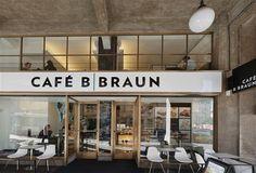 Cafe - B Braun,Prague, interior design by Eva Jiřičná