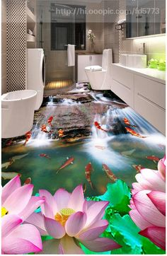 (Buy here: http://appdeal.ru/2c9q ) 3d photo wallpaper custom 3d flooring…