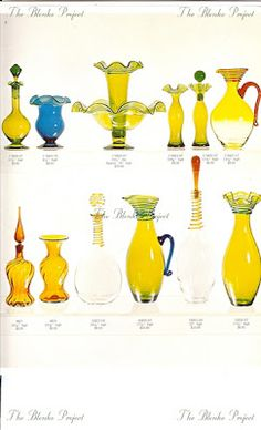 1968 - The Blenko project : Advocate for growth and preservation of Blenko glass Blenko Glass, Rainbow Glass, Preserves, Bottle, Projects, Log Projects, Preserve, Blue Prints, Flask