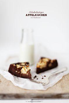 Grandioser Schokoladen-Apfelkuchen mit Haselnüssen | Zucker, Zimt und Liebe