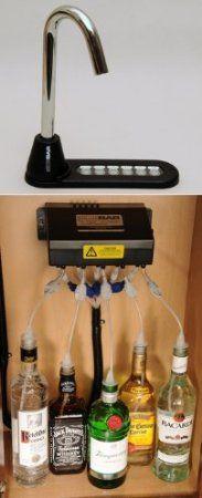 Amazon.com: SIDEBAR Beverage Systems®, Electronic Liquor Beverage Dispenser BLACK w/ BLACK SPOUT: Home Kitchen