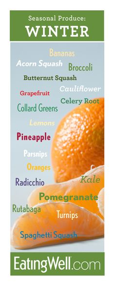 Winter Fruits and Vegetables Guide Find out what's best in the produce section this season.