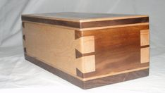 Solid Walnut and Bird's Eye Maple Dovetail by EdelmansWoodDesigns