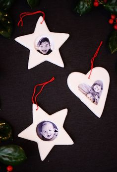 Salt dough picture frame ornaments, such a fun Christmas craft to make with kids. Plus the best salt dough recipe ever!