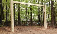 Wooden two leg swing set build? - Pirate4x4.Com : 4x4 and Off-Road Forum
