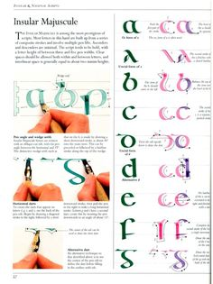 The Art of Calligraphy Insular Majuscule a to g