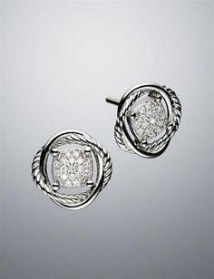 a61396c039f3 David Yurman Infinity Stud Diamond Earrings  diamondstudearrings Joyería De  Fantasía