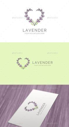 Elegant Feminine Love Lavender Logo - Nature Logo Templates