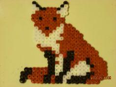 .Fox hama perler beads