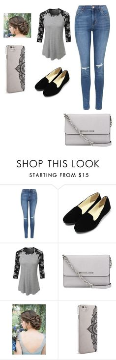"""""""Sin título #35"""" by anainesdiazh on Polyvore featuring Belleza, Topshop, LE3NO, MICHAEL Michael Kors y Nanette Lepore"""