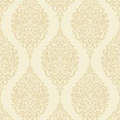 Home of Colour Damask Stripe Wallpaper - Cream Stripe Wallpaper Cream, Lounge Decor, Moroccan Style, Pattern Fashion, Outdoor Living, Style Patterns, Diy, Colour, Color