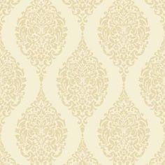 Home of Colour Damask Stripe Wallpaper - Cream Damask Stripe Wallpaper, Lounge Decor, Diy, Colour, House Ideas, Wallpapers, Home Decor, Garden, Homemade Home Decor