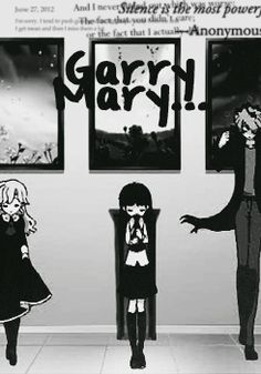 Cast of Ib; Mary (left) Ib (middle) Garry (right) Rpg Maker, Maker Game, Yandere, Ib Mary, Ib And Garry, Alice Mare, Mad Father, Mini Comic, Rpg Horror Games