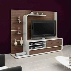 DIY TV Stand Ideas You Can Build Right Now – Architecture Art. Stylish and practical modern TV stand designs are more numerous than you may think is a necessity, so having a flexible entertainment center is a great idea. Tv Unit Decor, Tv Wall Decor, Tv Cabinet Design, Tv Wall Design, Tv Wanddekor, Lcd Panel Design, Tv Unit Furniture Design, Modern Tv Wall Units, Tv Stand Designs