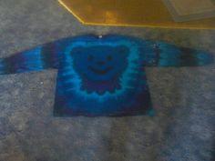 Blue bear long sleeve tie dye t shirt. Tie Dye T Shirts, Tye Dye, Bear, Long Sleeve, Crafts, Women, Tie Shirts, Manualidades, Full Sleeves