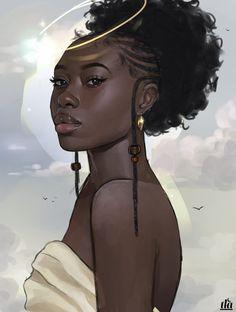 Pin: l i s s e t t e✨💜 black girl art, black women art, art girl, Black Love Art, Black Girl Art, Black Is Beautiful, Black Girl Magic, Art Girl, Black Girls, Arte Black, Black Girl Cartoon, Natural Hair Art