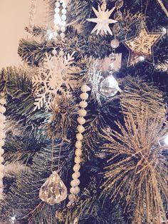 Glittery snowflake Christmas decoration